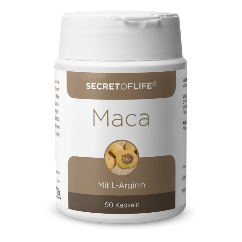 Secret of Life Maca L-Arginin Kapseln 90 Stück