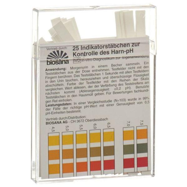 pH-Indikatorstäbchen 25 Stück